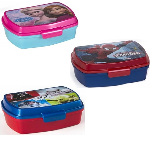 Lunchbox Brotdose Sandwichbox Die Eiskönigin (Frozen) Elsa & Anna Ultimate Spider-Man Star Wars Kylo Ren