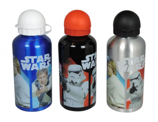 Star Wars Aluminium Flasche Trinkflasche Darth Vader Hans Solo Luke Skywalker
