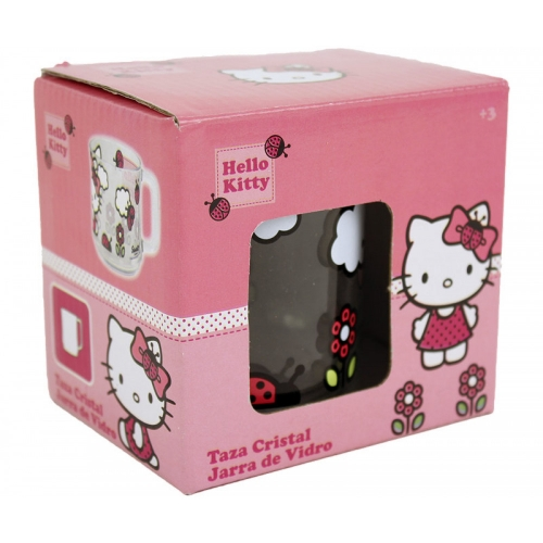 Hello Kitty Glass 10x11x8cm
