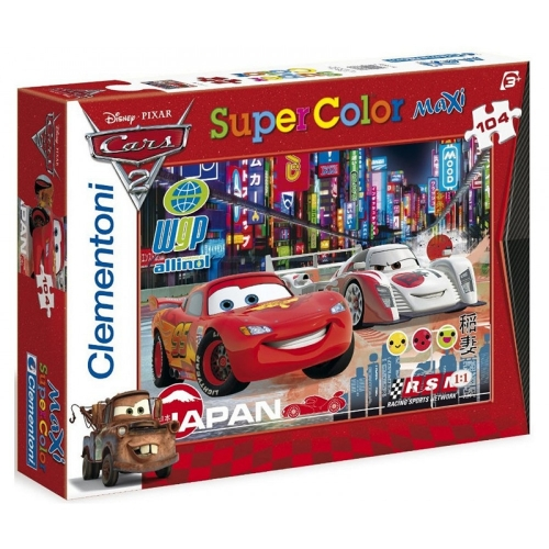 Cars 2 Color Super Riese Puzzle 104 Teile