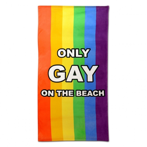 Handtuch Strand Only Gay on the Beach