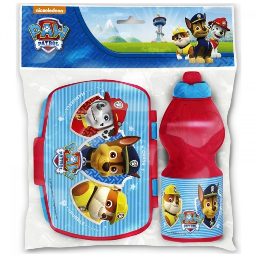 PAW PATROL Sport-Wasserflasche Lunch-Box SET
