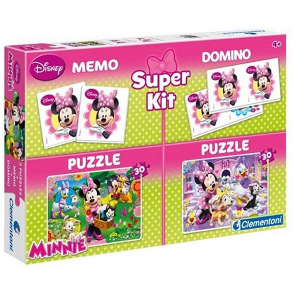Disney Minnie Puzzleteile 2x30 + Memo + Domino
