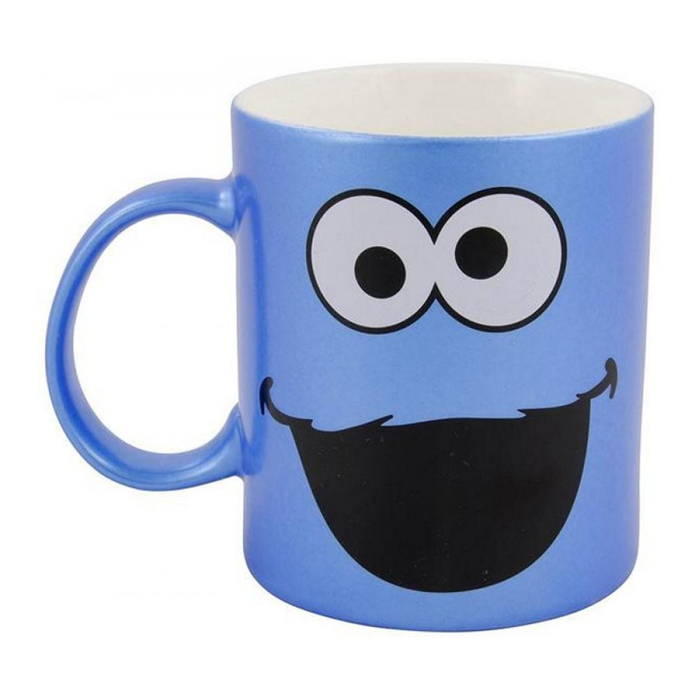 a7e87b1b26 Sesame Street Cookie Monster Kaffeetasse Metallic