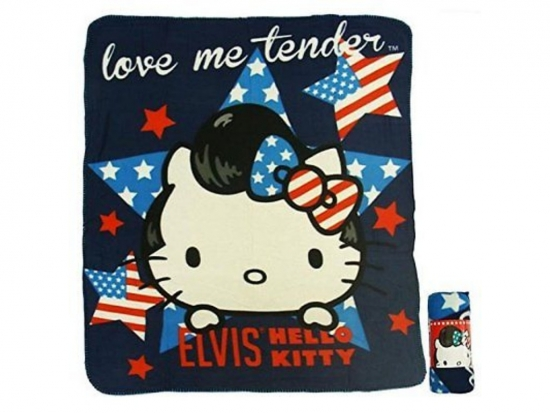 Hello Kitty elvis fleecedecke