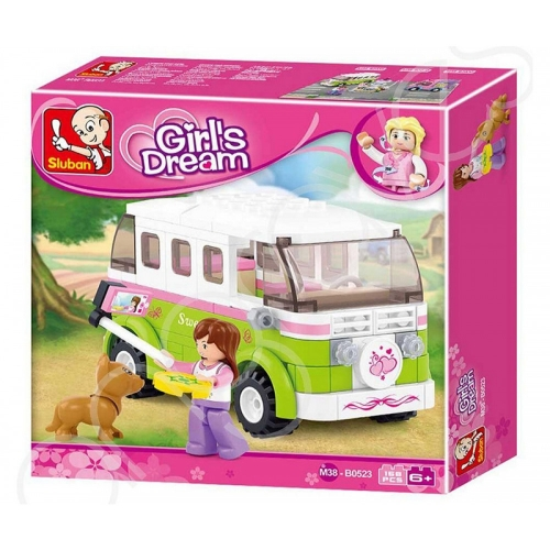 Sluban Girls Dream Campingwagen Camper 158 Teile M38-B0523