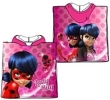 Badeponcho Poncho Frottee Miraculous Ladybug My little Pony Star Wars Spiderman Shimmer and Shine Disney Minions Pixar Findet Dory Nemo - Auswahl: Miraculous Ladybug pink